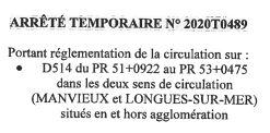 Déviation de circulation Route de Port 27/01/2021