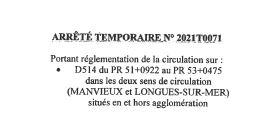 Déviation de circulation Route de Port 27/02/2021