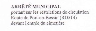 CIRCULATION ALTERNEE Route de Port Cimetière 14/09/2021